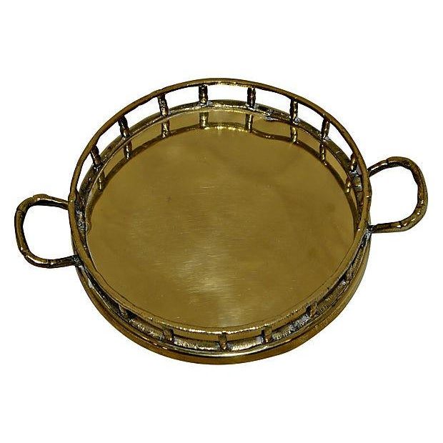 Brass Faux Bamboo Trays - A Pair - Image 3 of 5