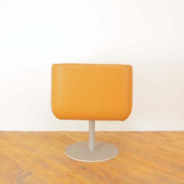 Leather Late 20th Century Loewenstein Cube Swivel Chairs - a Pair For Sale - Image 7 of 11