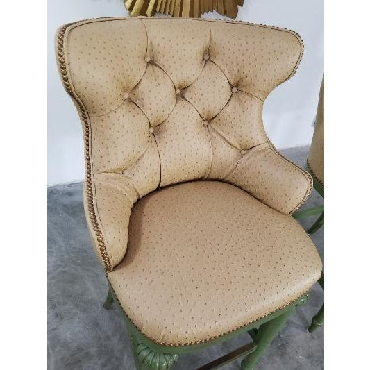 Tan Hickory Century Ostrich Barstools For Sale - Image 8 of 13