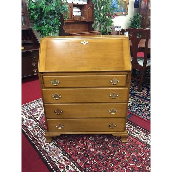 Vintage Traditional Beals Maple Secretary Desk For Sale - Image 10 of 10