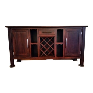 Custom Built Solid Wood Buffet Sideboard For Sale