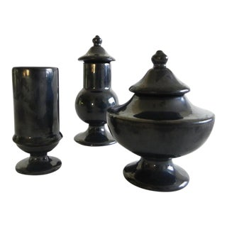 Traditional Ceramic Little Urns - Set of 3 For Sale