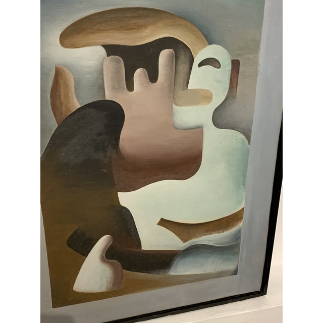 """1930s Surrealist Painting """"Primitive in Eclipse"""" by William Gamble For Sale - Image 4 of 7"""