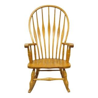 Mid Century Modern Style Oskar Huber Oak Wood Rocking Chair For Sale