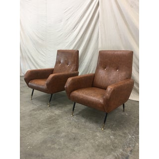 Pair of Mid-Century Italian Arm Chairs Preview