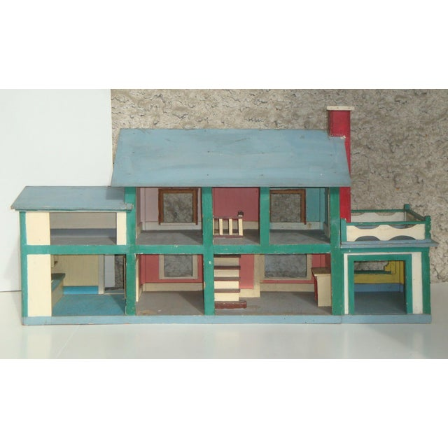 Early 20th Century 1920s Handmade American Folk Art House Maquette For Sale - Image 5 of 9