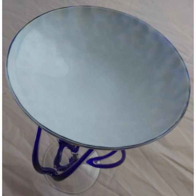 Josefina, Krosno Poland Footed Glass Compote - Image 5 of 8