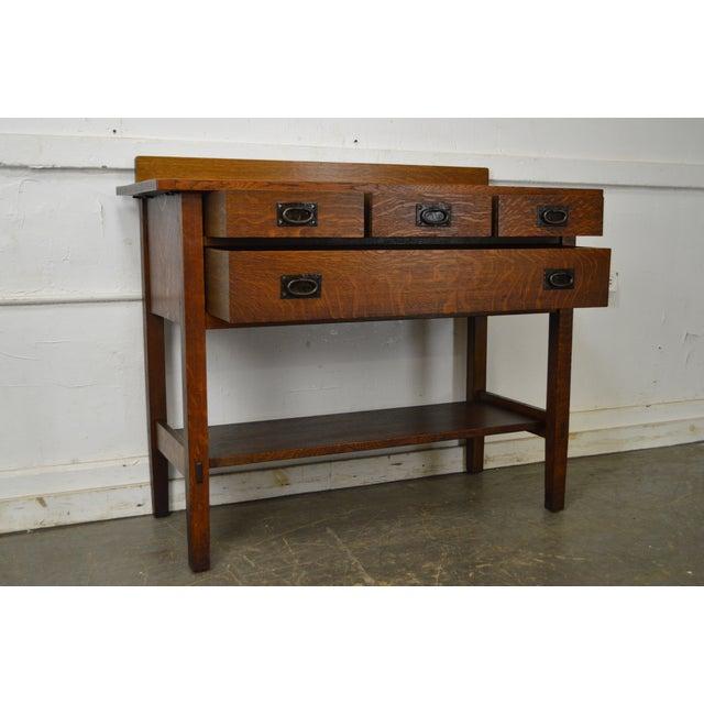 Gustav Stickley #819 Antique Mission Oak 4 Drawer Server For Sale - Image 9 of 12