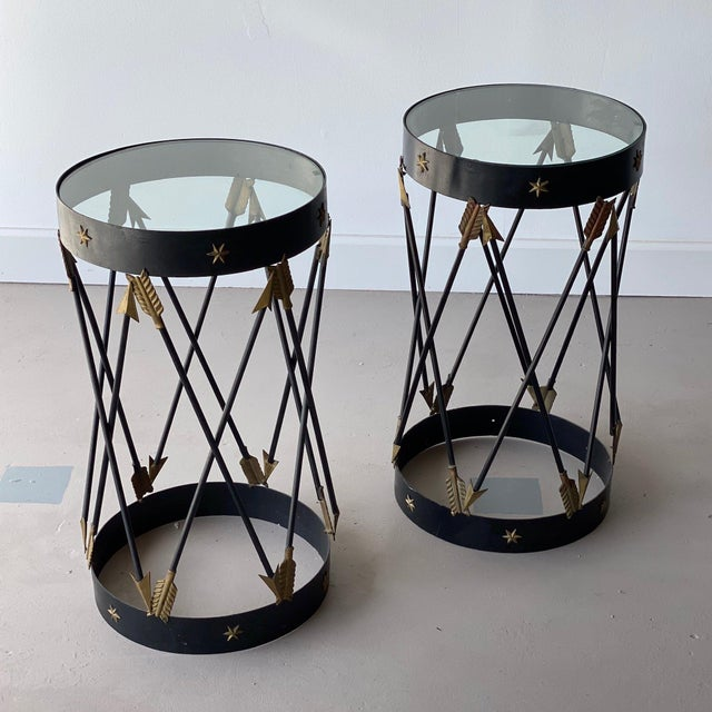 1950s Mid-Century Decorative Side Tables - A Pair For Sale - Image 5 of 5