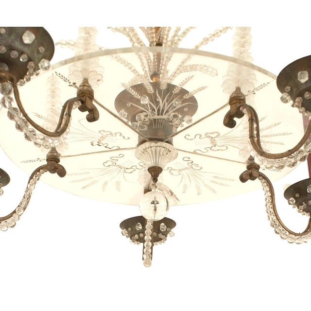 French 1940s Oxidize Bronze Chandelier For Sale In New York - Image 6 of 7