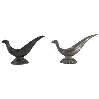 Just Andersen Signed Bird Pipe Holders - A Pair For Sale