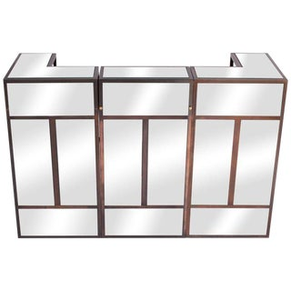 Maison Jansen Brass Mirrored Bar Units For Sale