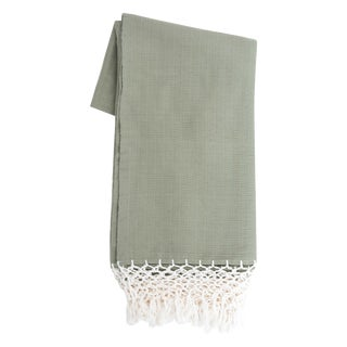Olive Green Mexican Throw