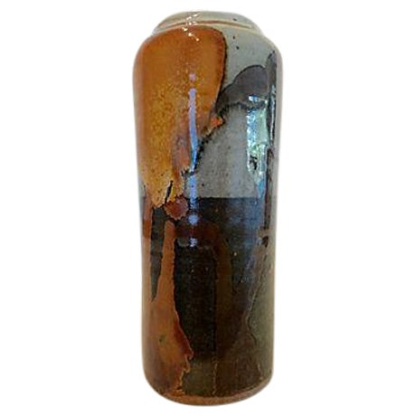 Modernist Abstract Studio Pottery Vase For Sale
