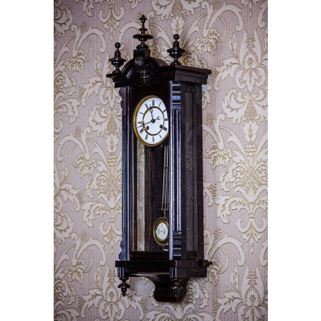 Wood 19th-Century Louis Philippe Wall Clock For Sale - Image 7 of 10