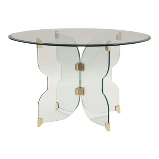 Caracole Modern Fluttering Glass Dining Table For Sale