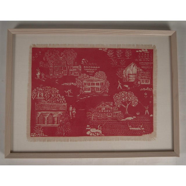 """Cottage Folly Cove """"Head of the Cove"""" Hand Block Print For Sale - Image 3 of 9"""