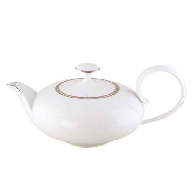 """""""Ena"""" Teapot with Platinum Rim by Ena Rottenberg For Sale"""