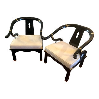Pair of Ming Style Chinoiserie Chairs For Sale