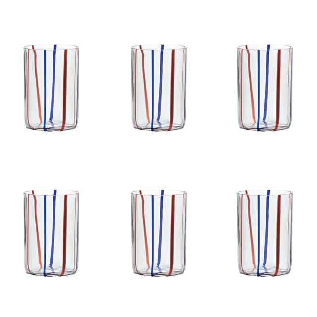 Contemporary Tirache Tumbler in Amethyst & Blue - Set of 6 For Sale - Image 3 of 3