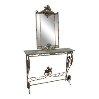 20th Century Italian Console and Mirror Set - 2 Pieces For Sale
