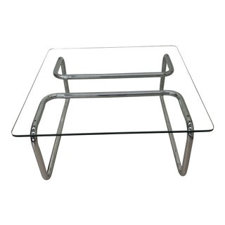 Mid Century Tubular Chrome Cocktail Table For Sale