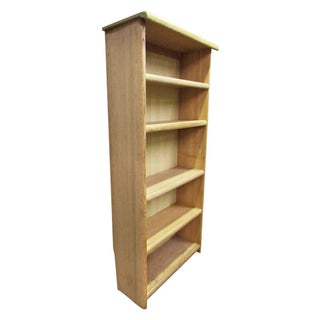 Pickled Oak Five Shelf Bookcase Preview