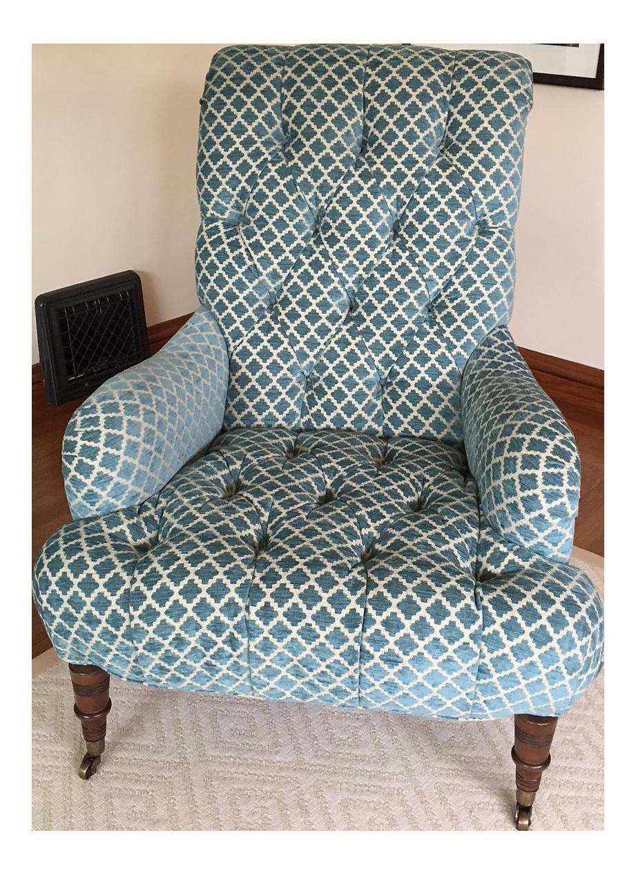 Kravet Traditional Velvet Upholstered Chair