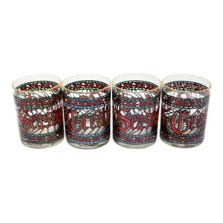 Vintage Holiday Glasses by Houze For Sale