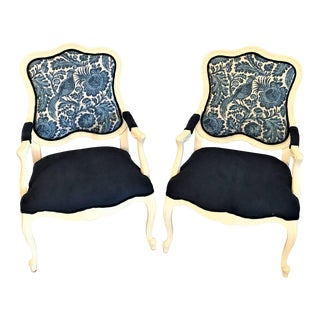 1970s Bergere Chairs - a Pair For Sale