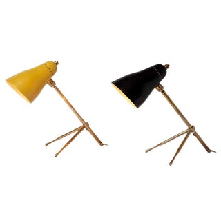 "1950s Giuseppe Ostuni ""Ochetta"" Wall or Table Lamps for O-Luce - a Pair For Sale"