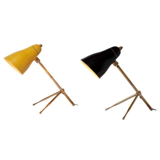 "1950s Giuseppe Ostuni ""Ochetta"" Wall or Table Lamps for O-Luce - a Pair For Sale"