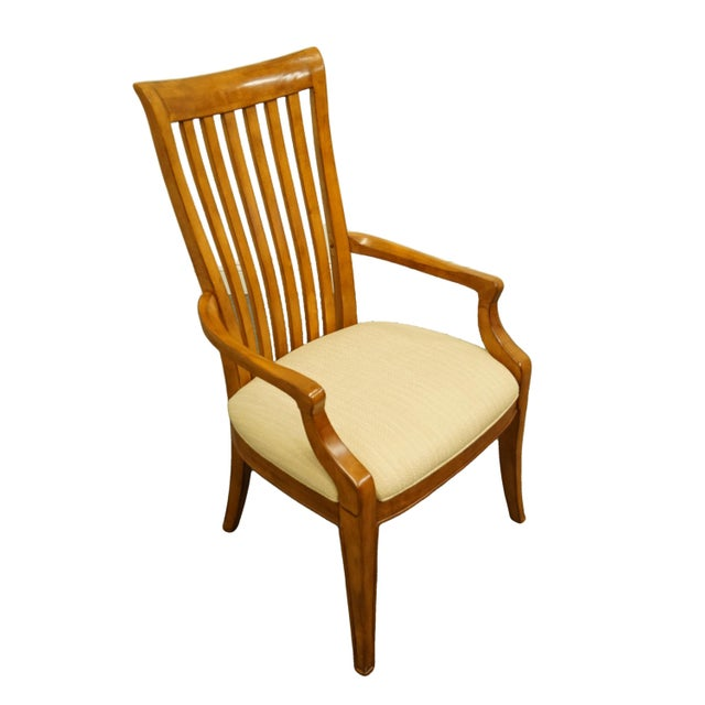 "THOMASVILLE FURNITURE Cinnamon Hill Collection Mission Style Dining Arm Chair 42721-822 42"" High 24"" Wide 27"" Deep Seat:..."