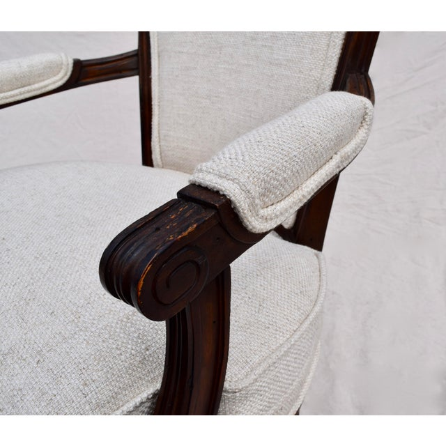 Louis XVI French Walnut Fauteuil Accent Chair For Sale - Image 11 of 13
