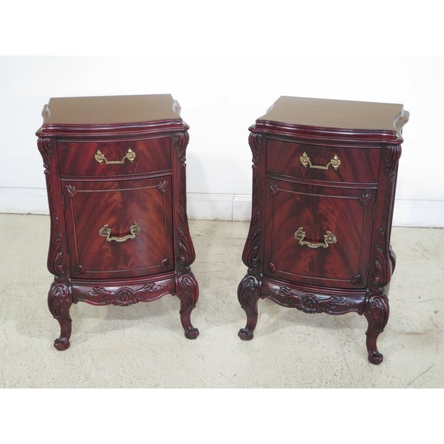 1950s Era Vintage Swan Carved Mahogany Bedroom Set - Set of 6 | Chairish