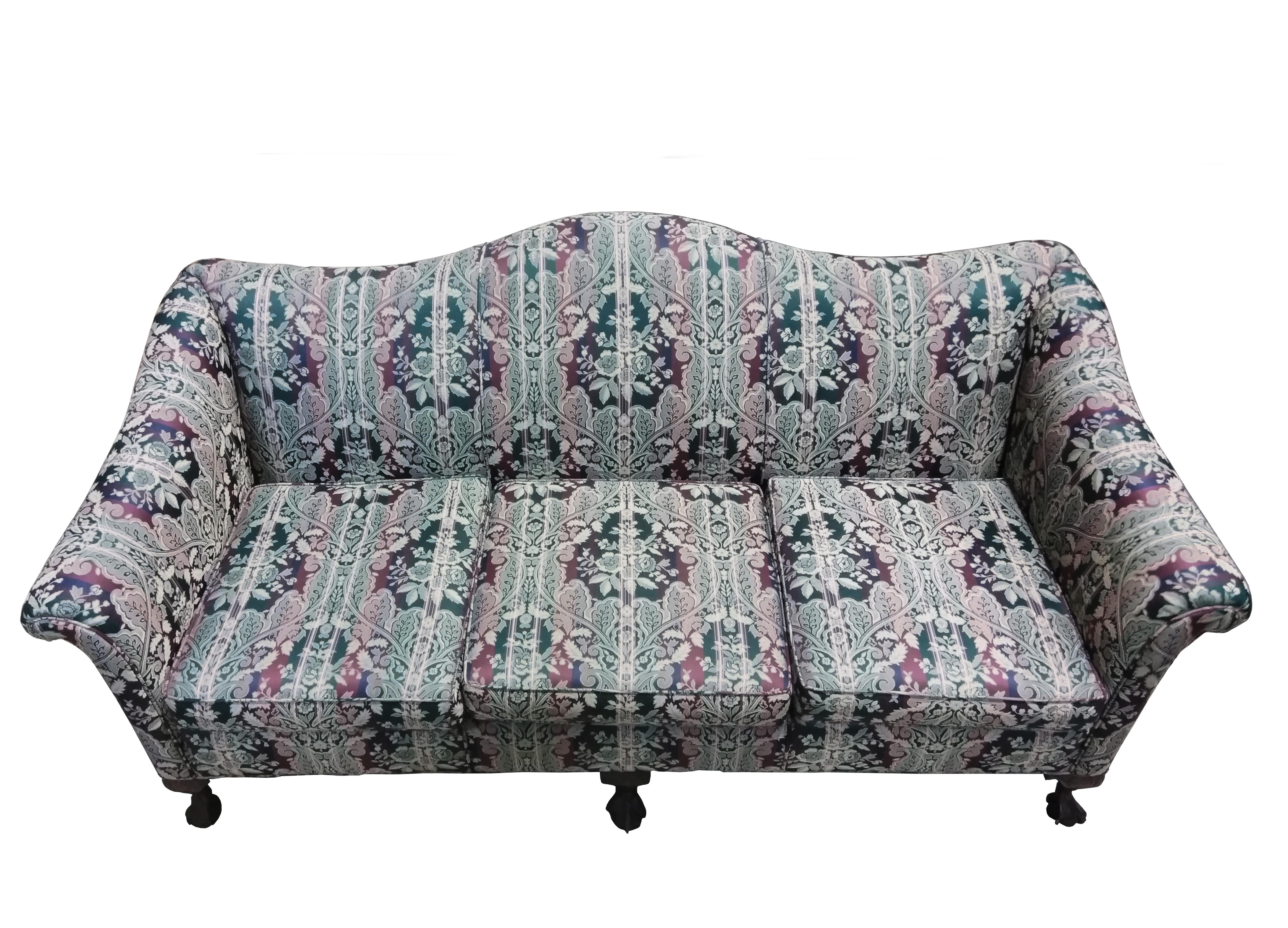 1920s Antique Chippendale Style Camel Back Sofa Chairish