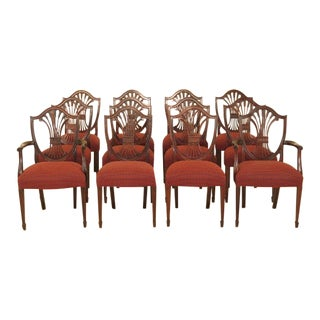 Stickley Shield Back Mahogany Dining Room Chairs - Set of 12 For Sale