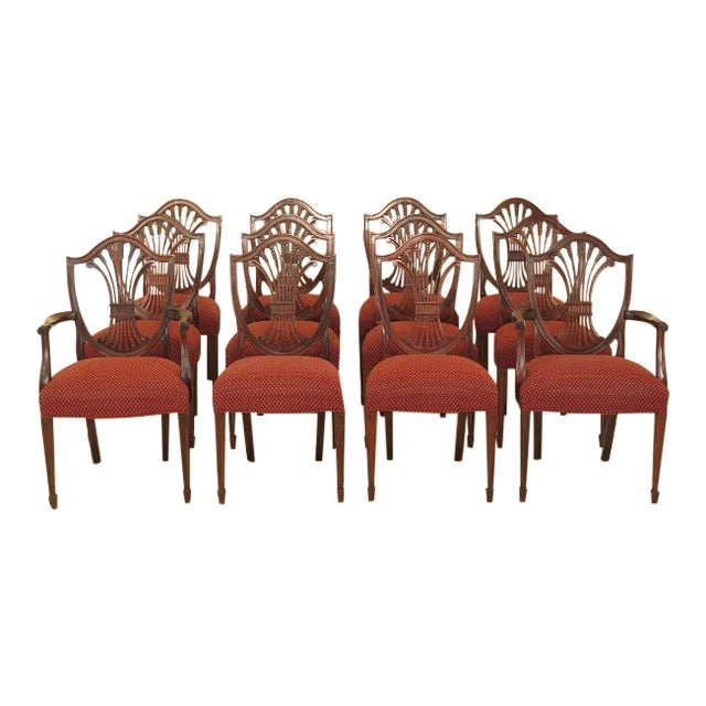 Shield Back Dining Room Chairs: Stickley Shield Back Mahogany Dining Room Chairs
