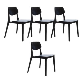 Felber C14 Black Dining Chairs With Patented Connection - Set of 4 For Sale