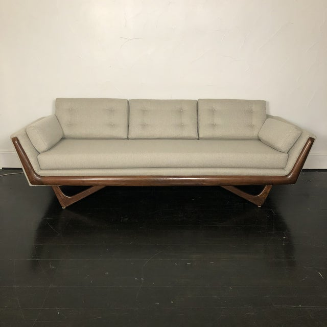 1960s Restored Adrian Pearsall Gondola Sofa For Sale - Image 13 of 13