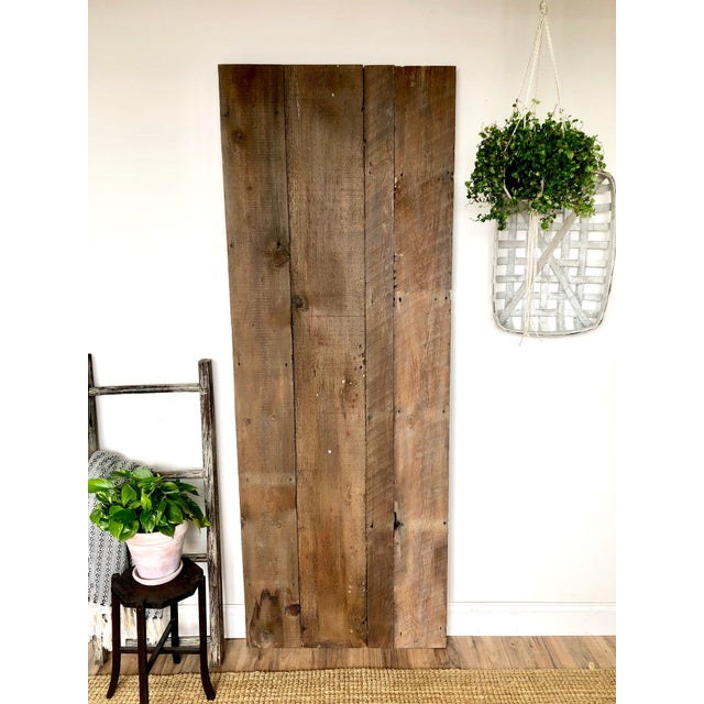Modern Rustic Sliding Farmhouse Barn Door For Sale - Image 4 of 13