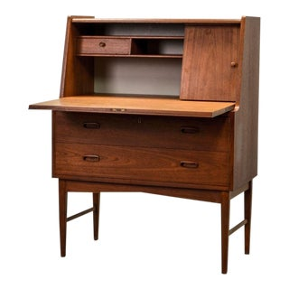 Mid-Century Scandinavian Design Teak Writing Desk, Scandinavia, 1960s For Sale