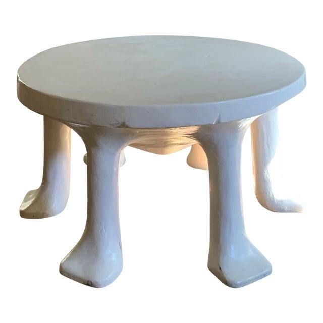 Postmodern John Dickinson 6-Legged African Plaster Coffee Table by David Sutherland For Sale