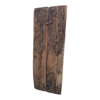 Early 19th Century Primitive Wooden Threshing Board