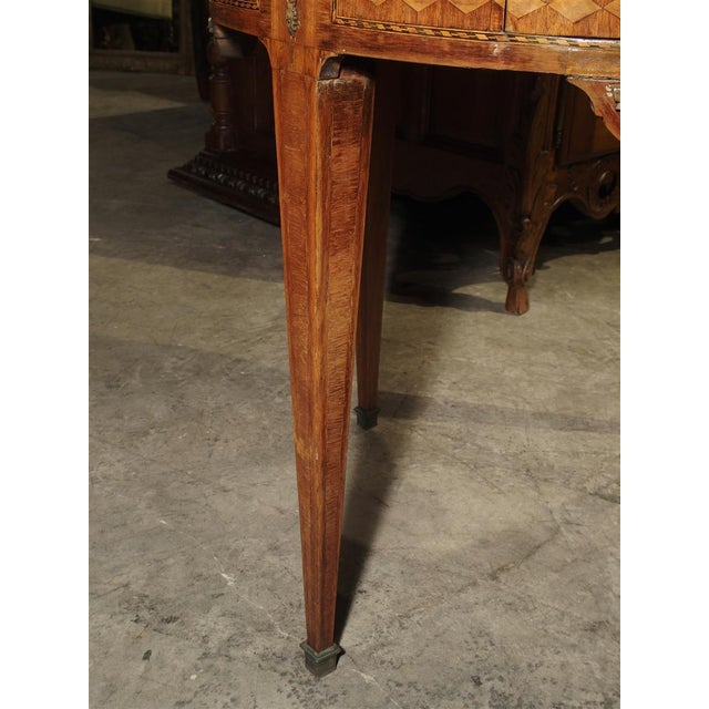 19th Century French 4-Drawer Marble Top Bouillote Table For Sale - Image 4 of 13