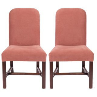Belgian Axel Vervoordt Linen Side Chairs - a Pair For Sale