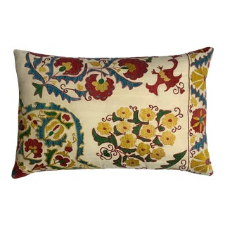 Hand Embroidered Suzani Pillow For Sale
