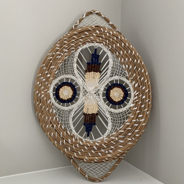 1960s Mid-Century Spun Basket Art For Sale - Image 4 of 6