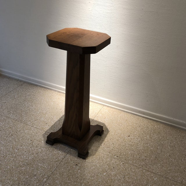 1940s Traditional Oak Pedestal For Sale - Image 11 of 11