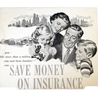 Insurance Illustration From the 1950's For Sale